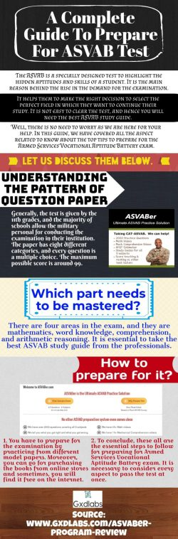 Take the best ASVAB study guide from the professionals