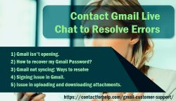 Contact Gmail Live Chat to Resolve Errors