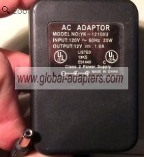 NEW 12V 1A YK-12100U Power Supply AC Adapter