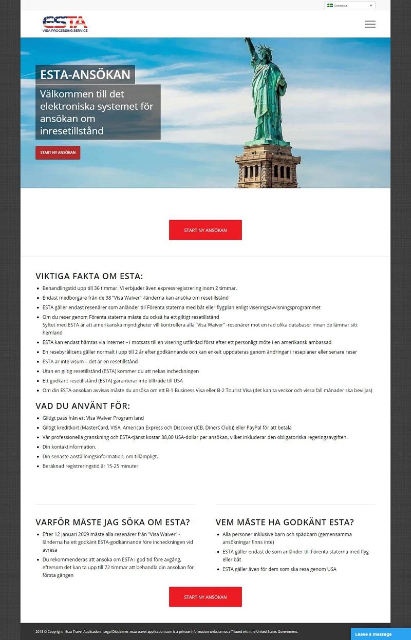 Visum till USA från sverige