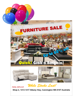 FURNITURE BARGAIN SALE – Perth Australia