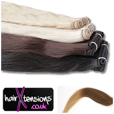 Hair Extension Wefts UK In Color Ombre