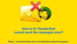 How to fix Thunderbird cannot send the messages error?