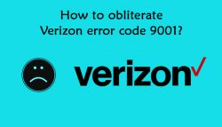 How to obliterate Verizon error code 9001?
