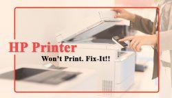 HP Printer Won't Print. Fix-It!!