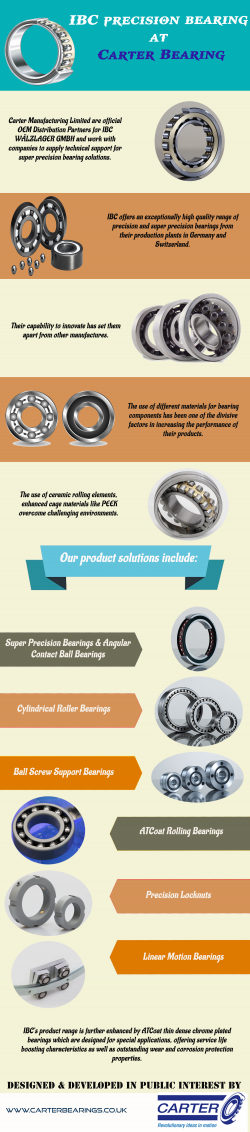 IBC precision bearing at – Carter Bearing