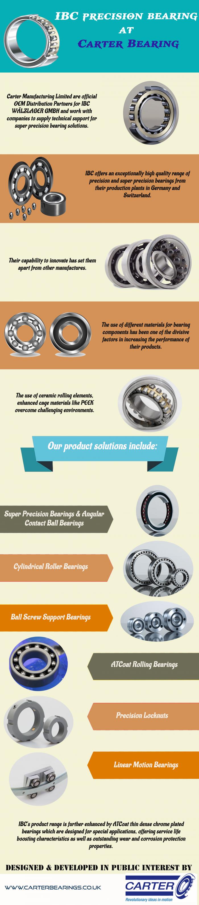IBC precision bearing at – Carter Bearing