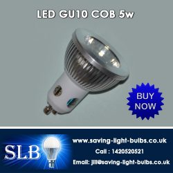 Buy LED GU10 COB 5w at Saving Light Bulbs