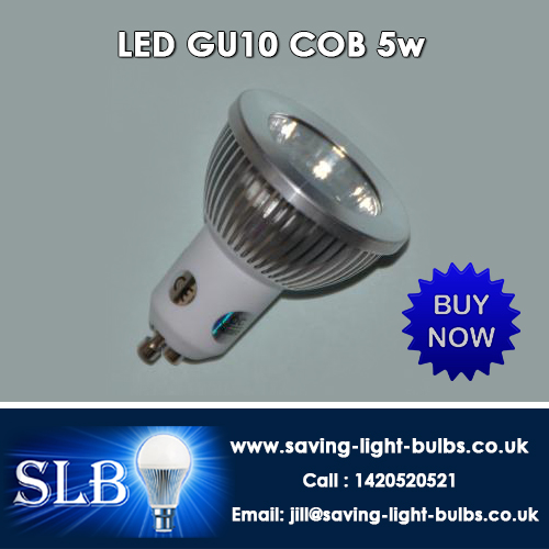 Buy LED GU10 COB 5w at Saving Light Bulbs