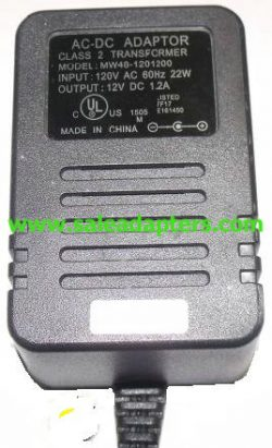 MW48-1201200 AC ADAPTER 12V 1.2A CLASS 2 TRANSFORMER