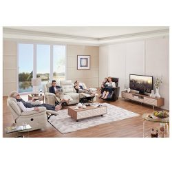 NappaAire Lounge Suite with 4 Recliners and a Rocket – Furniture Perth