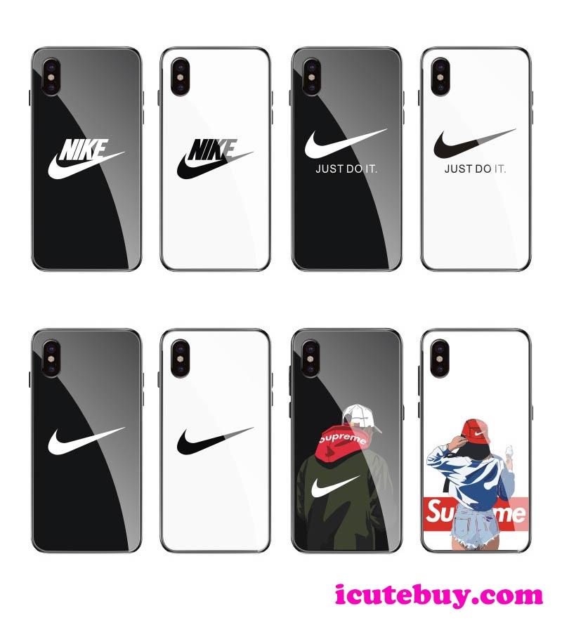 ナイキ iPhone11ケース Nike iPhone11Proケース NIKE iPhone11 Pro Maxケース 強化ガラス保護カバー お ...