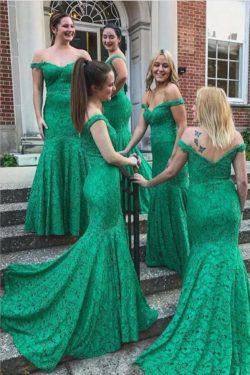 Elegante Brautjungfernkleider Grün Günstig | kleider für Brautjunfern Spitze
