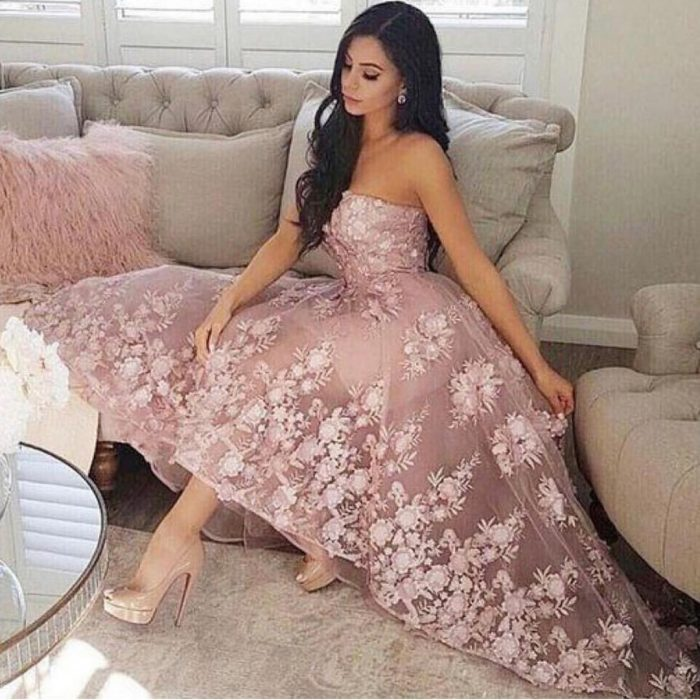 Fashion Cococktailkleider Spitze Rosa | Kurze Ballkleider Abiballkleider Online