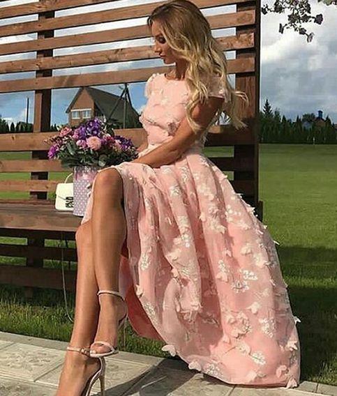 Rosa Cocktailkleider Kurz Online | Abiballkleider Abendkleider Online