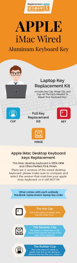 Shop Genuine Apple iMac Wired Aluminum Keyboard Keys from Replacement Laptop Keys