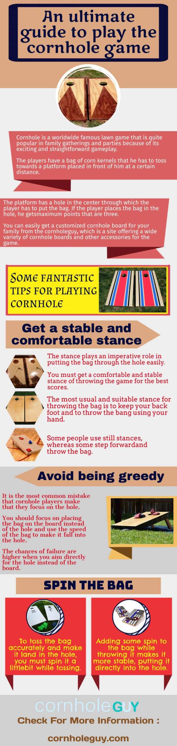 Some general instructions you can consider to make your Cornhole set stand out