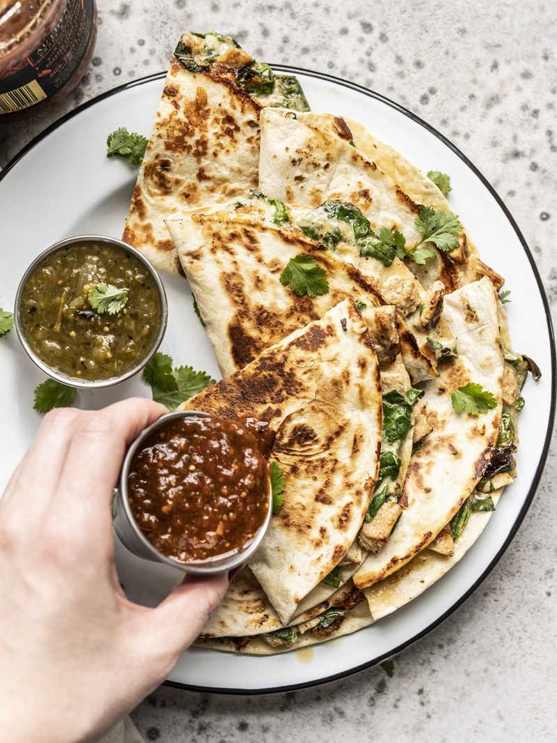 Creamy Chicken and Spinach Quesadillas – Budget Bytes