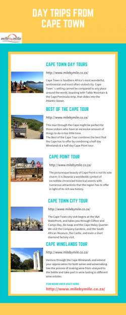 Day Trips From Cape Town | Milebymile