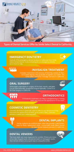 Types of Dental Services Offer by Smile Select Dental