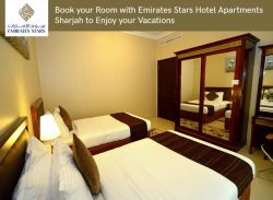 Book your Room with Emirates Stars Hotel Apartments Sharjah to Enjoy your Vacations