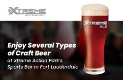 Enjoy Several Types of Craft Beer at Xtreme Action Park's Sports Bar in Fort Lauderdale