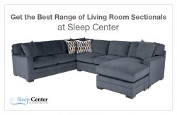 Get the Best Range of Living Room Sectionals at Sleep Center