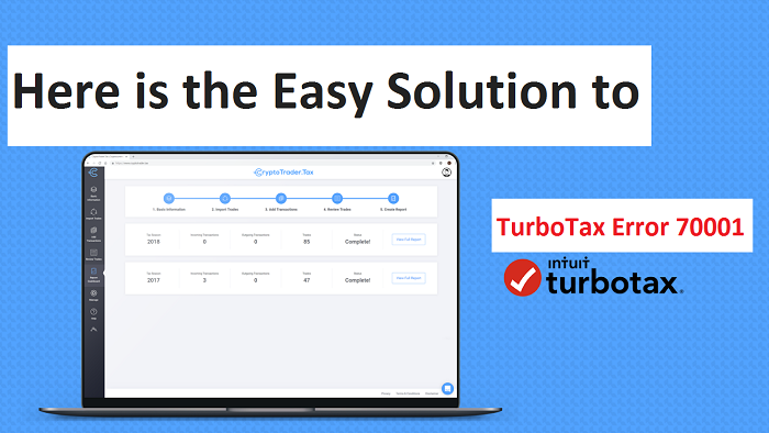 Here is the easy solution to TurboTax error 70001