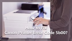 How to Fix Canon Printer Error Code 5b00?