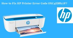How to Fix HP Printer Error Code OXC4EB827F?