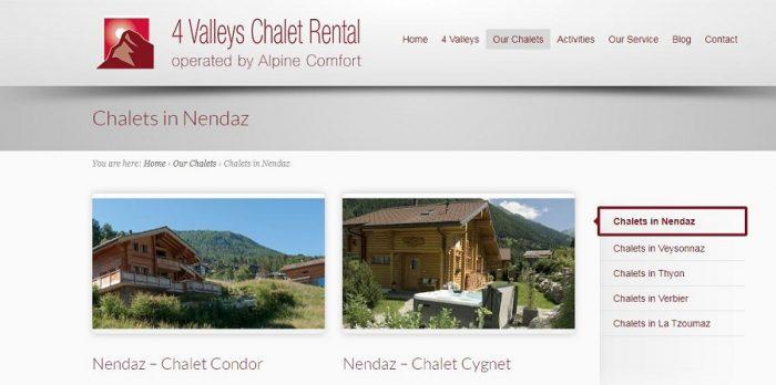 Chalet rental Nendaz