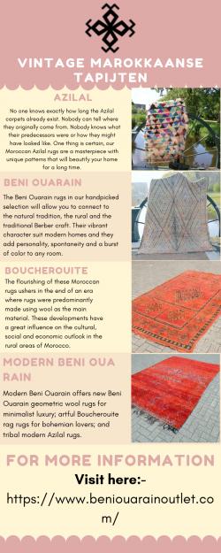 Onze Vintage Marokkaanse Tapijten Zijn Alles