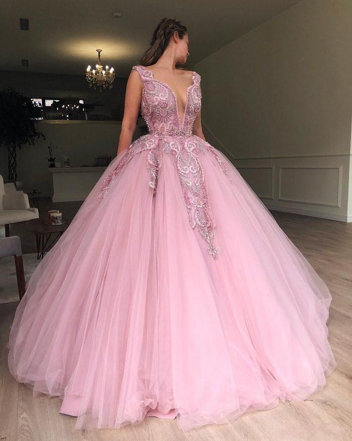 Prinzessin Rosa Abendkleider Lang Günstig Online Kaufen