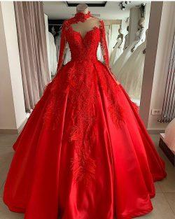 Luxus Abendkleider Mit Ärmel | Rote Abendmoden Abiballkleider Online
