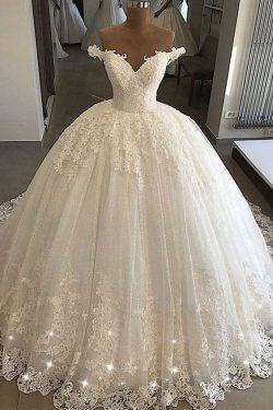 Elegante Brautkleider Prinzessin | Spitze Hochzeitskleider Günstig Online