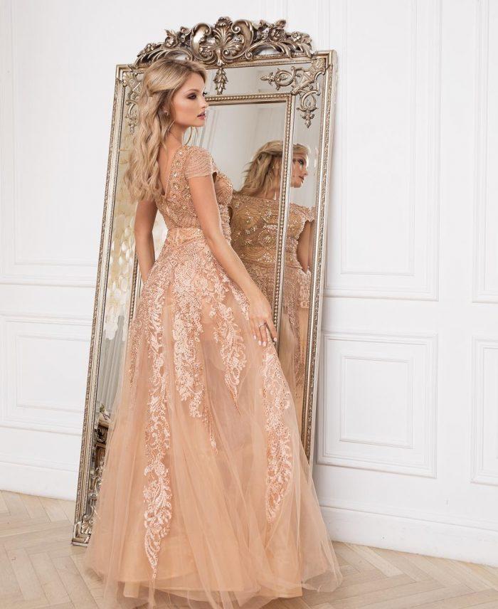 Luxus Abendkleider Mit Spitze | Günstige Abiballkleider Bodenlang