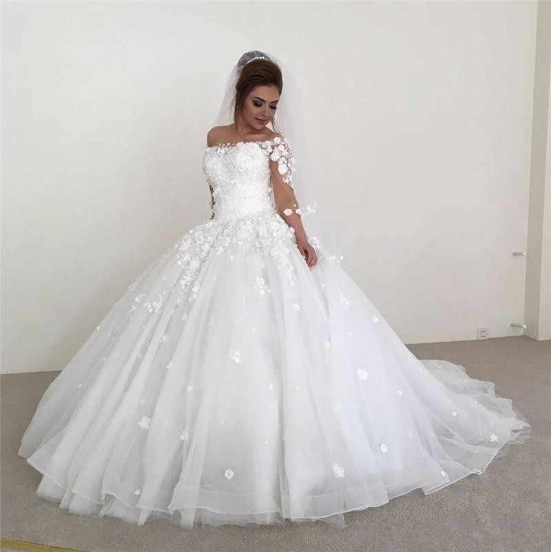 Modern Brautkleider Mit Ärmel | Hochzeitskleider A Linie Mit Spitze