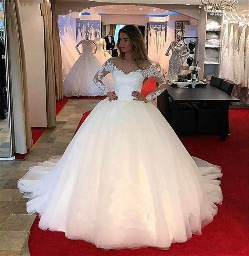 Designer Hochzeitskleider mit Ärmel | Brautkleider Mit Spitze Online