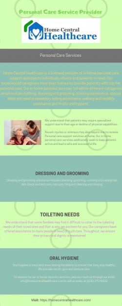 Homecentralhealthcare – Personal Care Service Provider