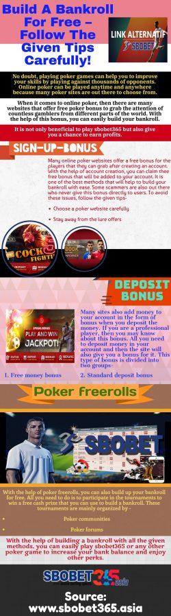 Learn How To Build A Free Bankroll To Play Your Favorite Poker Games