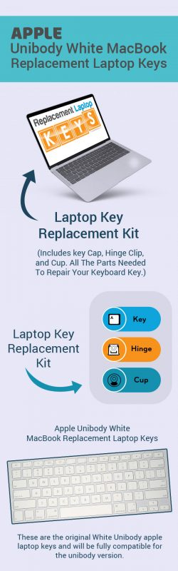 Shop Apple Unibody White MacBook Replacement Keys Online from Replacement Laptop Keys