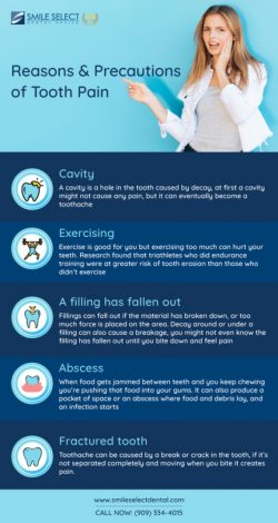 Reason and Precautions of Tooth Pain | Emergency Dentist in California