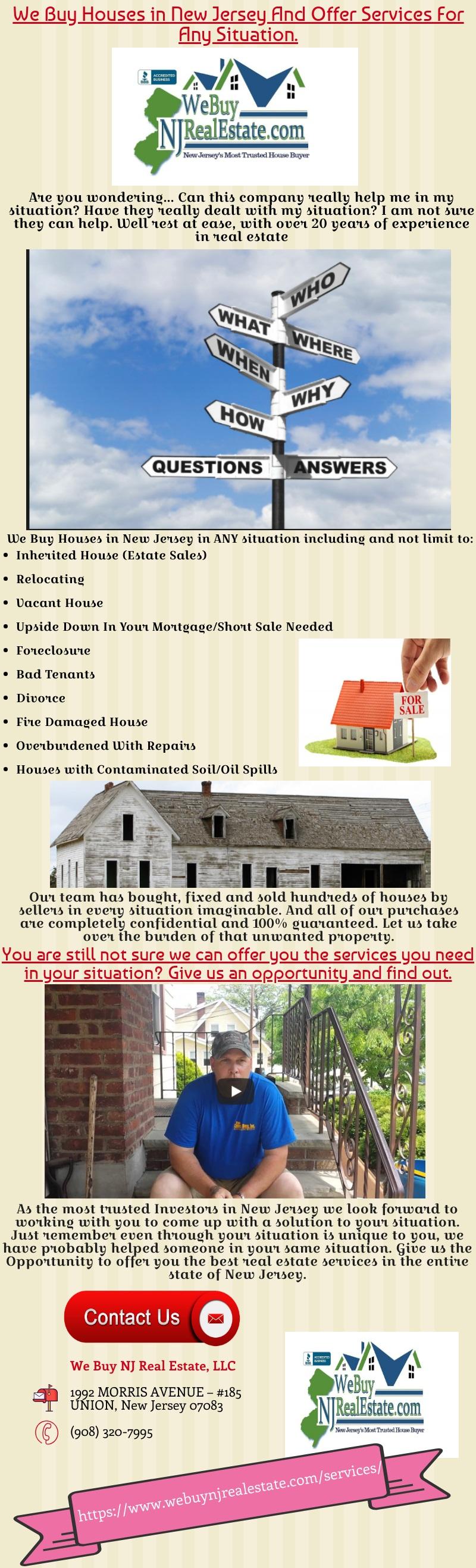 We Buy NJ Real Estate