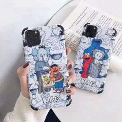 個性風 カウズ アイフォン11 プロ カバー Sesame Street 可愛い iPhone xs/10ケース 最新ファッション