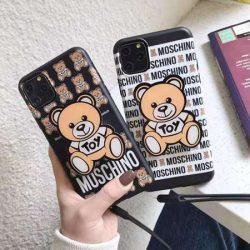 可愛い テディベア Moschino iPhone11/11Pro maxケース 熊柄 アイホーンイレブン/xs maxカバー