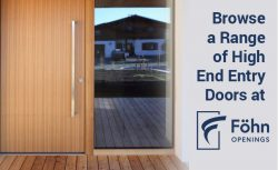 Browse a Range of High End Entry Doors at Föhn Openings