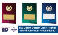 Buy Quality Custom Glass Trophies in Melbourne from Recognition ID