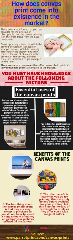 Decorate your bedroom by having the use of the canvas photo prints
