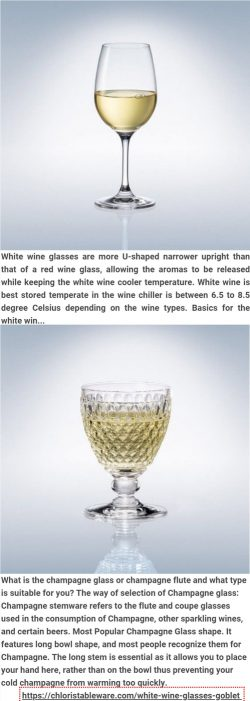 WHITE WINE GLASSES & GOBLET