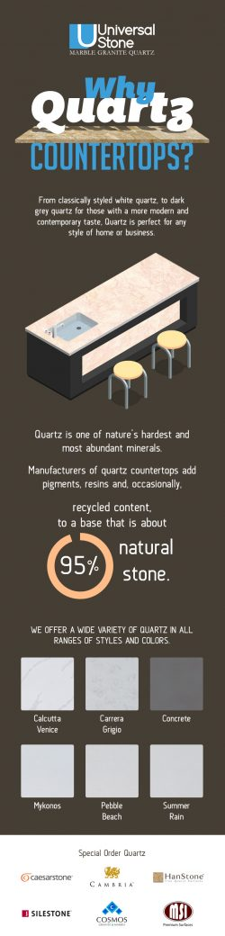 Discover Beautifully-designed Quartz Countertops from Universal Stone